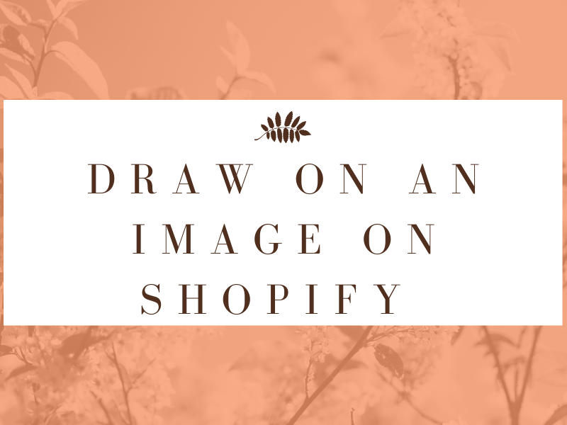 A step by step drawing on an Image on Shopify