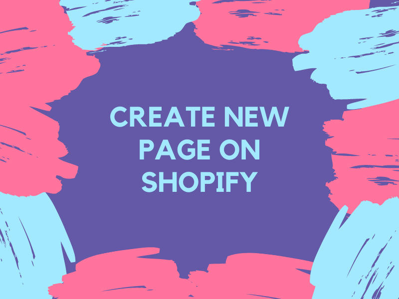 How to create new page on Shopify