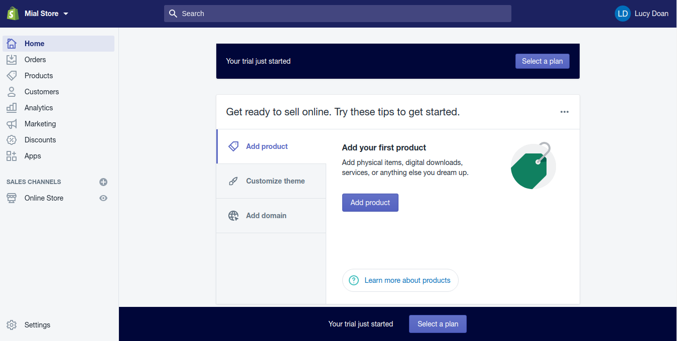 Step 4: Your dashboard page