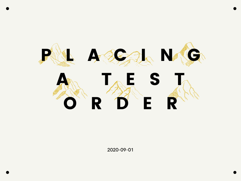 Placing a test order on Shopify